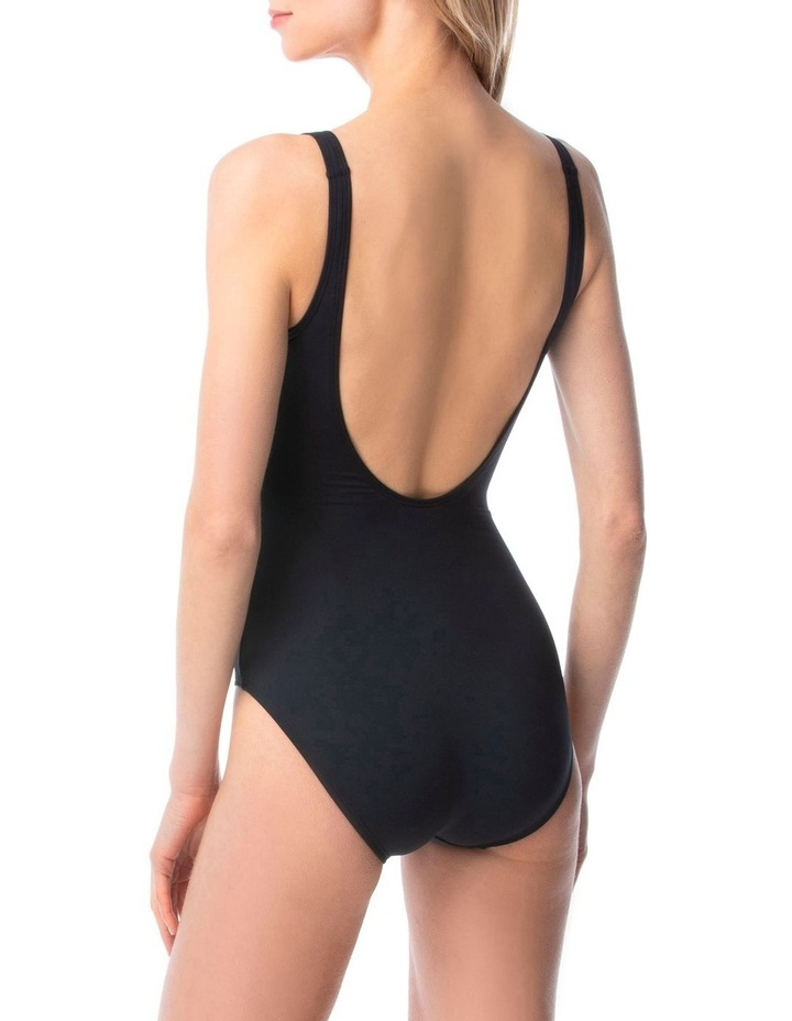 Lace Up One Piece Swimsuit - Sea Solids image 2
