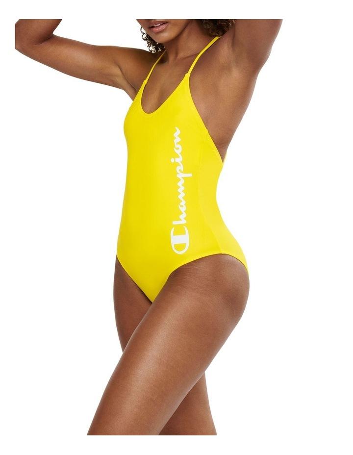 Rochester Script Strappy Swimming Suit One Piece Swimwear image 2