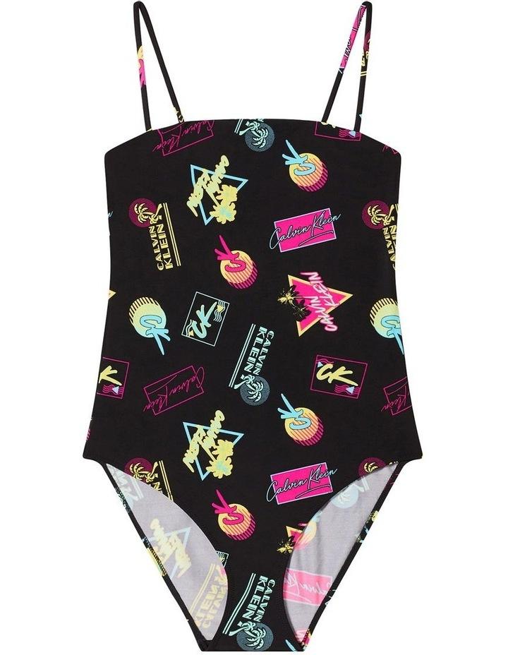 Calvin Klein Swim CK Wave Bandeau One Piece KW00998 image 4