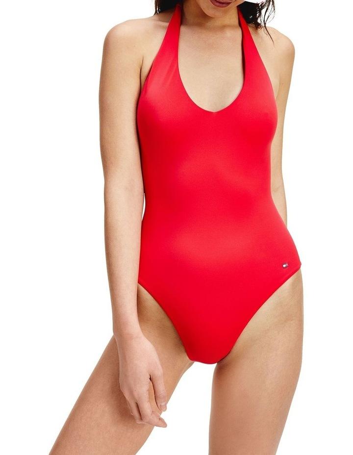 Halter Neck One Piece Swimsuit image 1