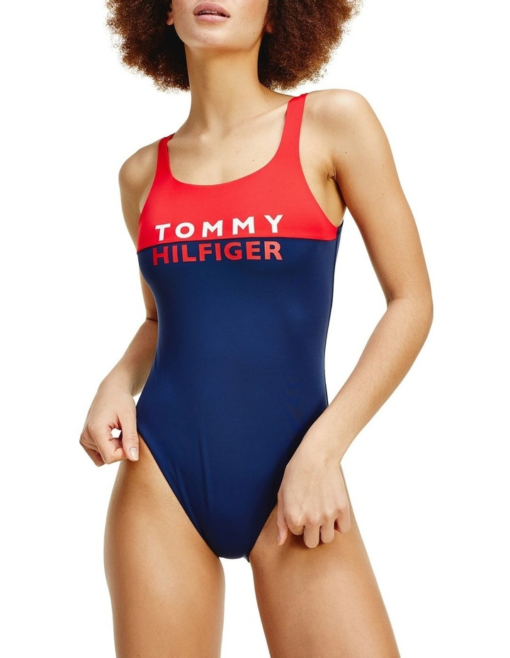 Colour-Blocked One-Piece Swimsuit image 1