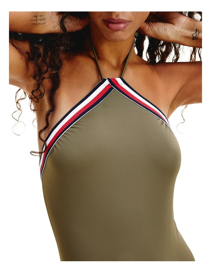 Signature Tape Halter Neck One-Piece Swimsuit image 3