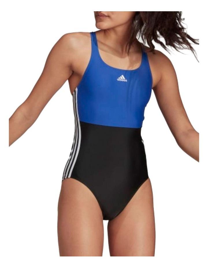 Sh3.Ro Colourblock 3 Stripe Swimsuit Black/Team Royal Blue image 1