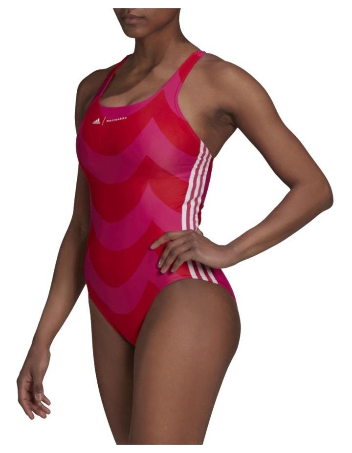 Sh3.Ro 3 Stripes Marimekko Swimsuit Magenta image 1