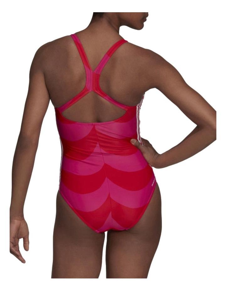 Sh3.Ro 3 Stripes Marimekko Swimsuit Magenta image 2
