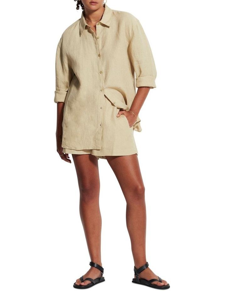 Beach Edit Beach Linen Shirt Olive image 1