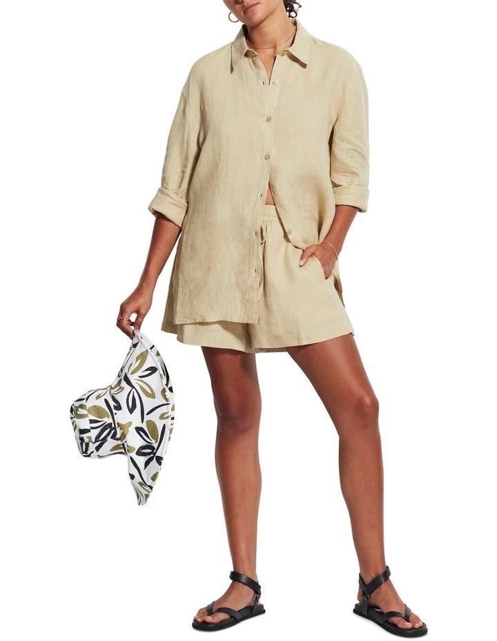 Beach Edit Beach Linen Shirt Olive image 4