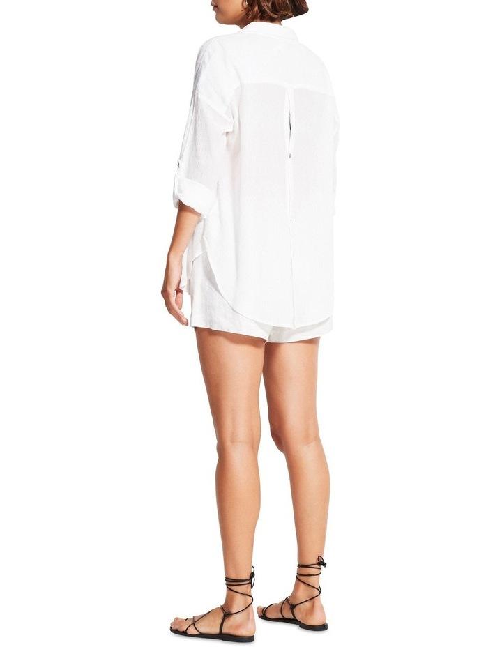 Classic Beach Shirt White image 2