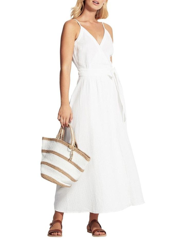 Beach Edit Double Cloth Wrap Dress image 1