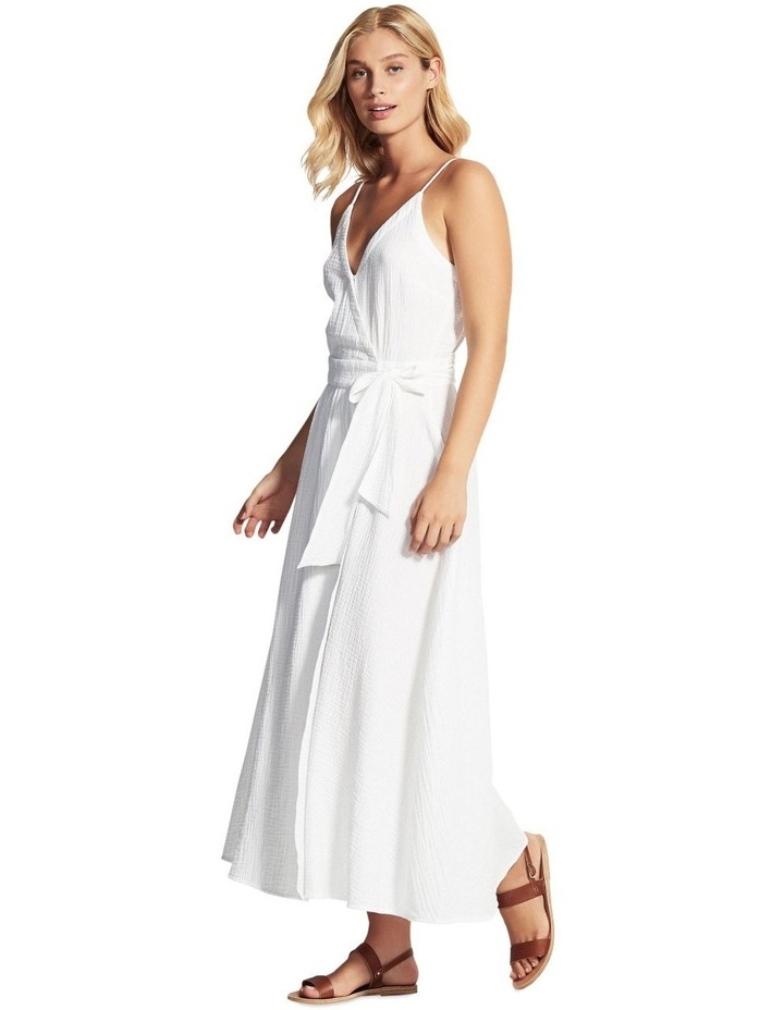 Beach Edit Double Cloth Wrap Dress image 2