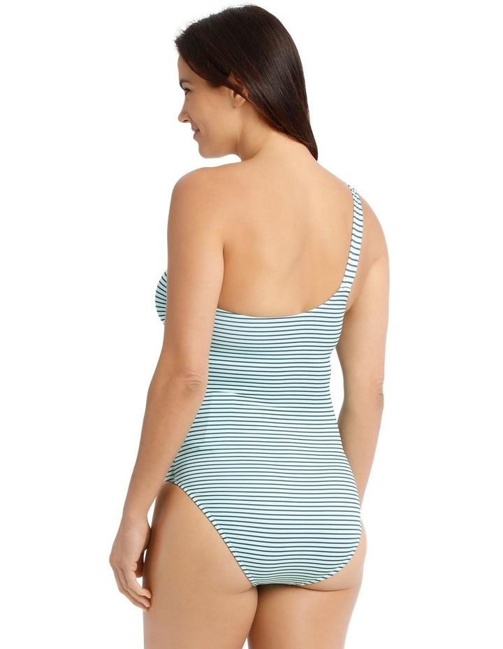 Breton Stripe One Shoulder One Piece image 2