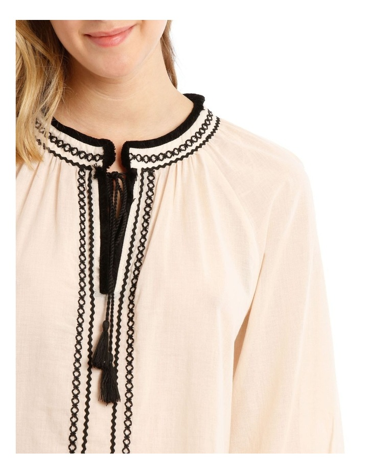 Longline Top With Embroidery image 3