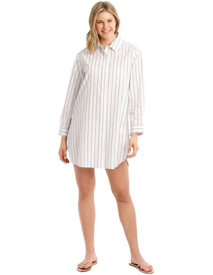 Over-sized Shirt With Yarn Dye Stripe image 1