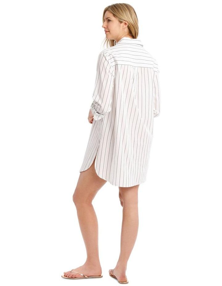 Over-sized Shirt With Yarn Dye Stripe image 2
