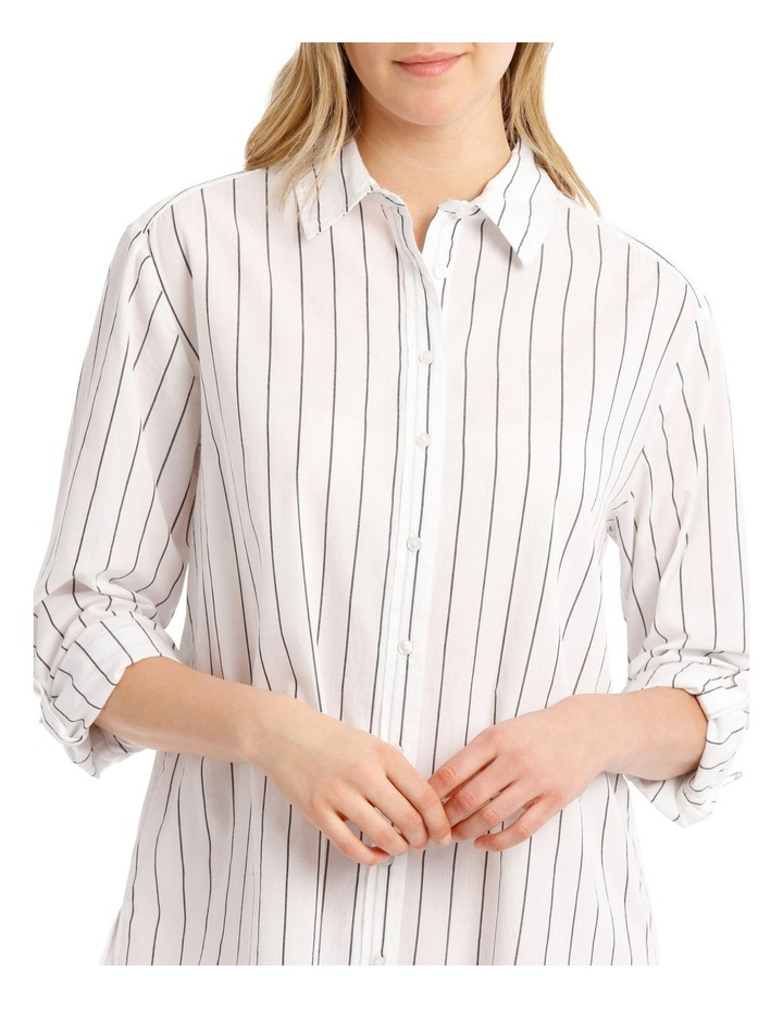 Over-sized Shirt With Yarn Dye Stripe image 3