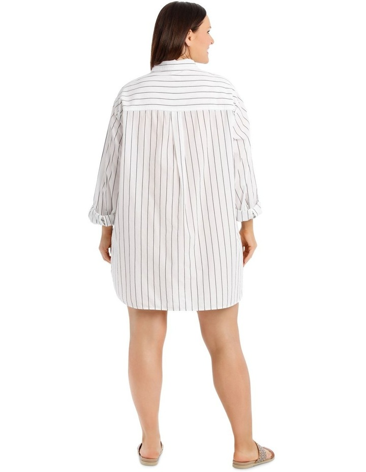 Over Sized Striped Yarn-Dye Shirt image 3