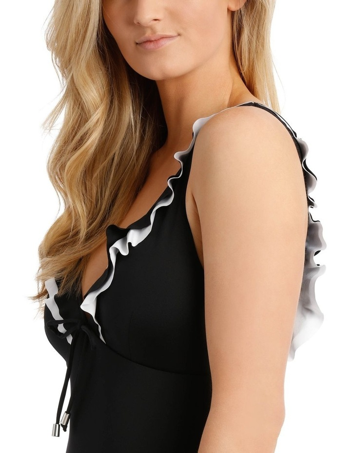 Emerald Oasis One Piece Plunge With Ruffle Solid image 3
