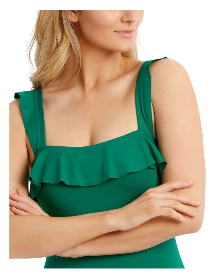 Emerald Oasis One Piece With Ruffle On Bodice And Sleeve image 3
