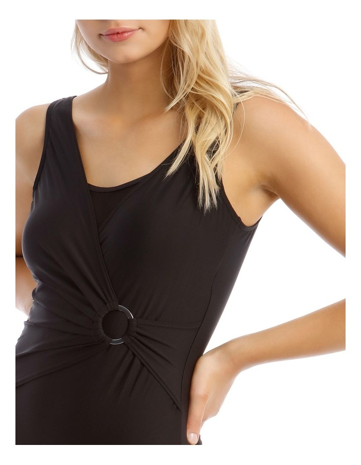 Mock-Wrap One-Piece with Buckle Trim image 3