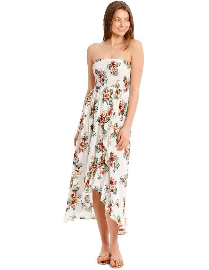Floral Printed Bandeau Dress image 1