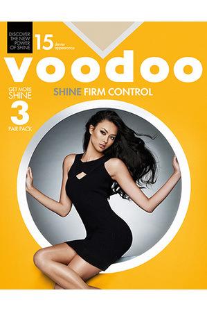 Voodoo - Sheer Pantyhose Shine Firm Control 15 denier 3pk H30430
