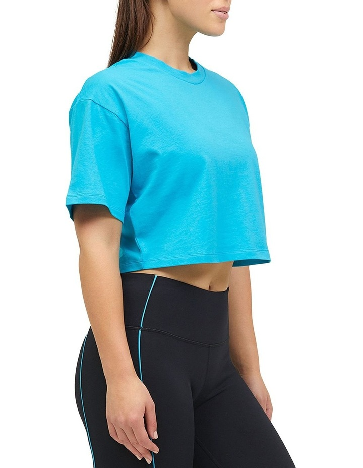 Cropped Boxy Tee Teal image 1