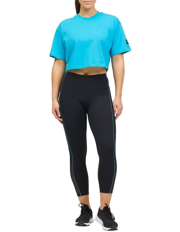 Cropped Boxy Tee Teal image 2
