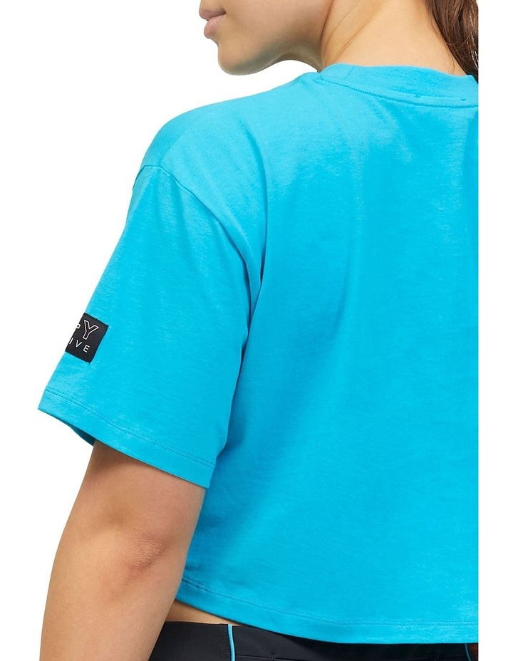 Cropped Boxy Tee Teal image 4