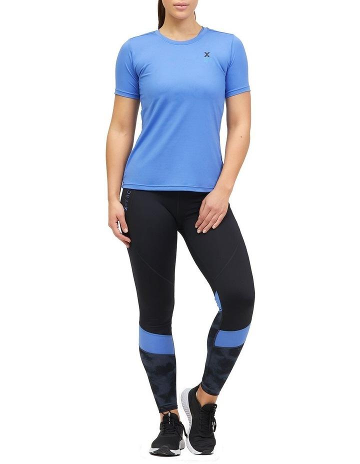 Panelled Full Length Legging Black/Animal Texture image 1