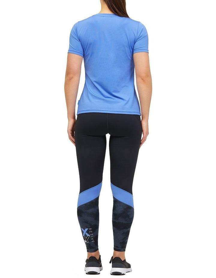 Panelled Full Length Legging Black/Animal Texture image 2