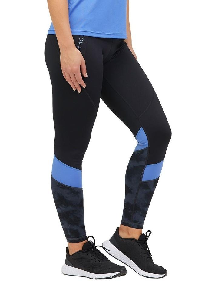 Panelled Full Length Legging Black/Animal Texture image 3