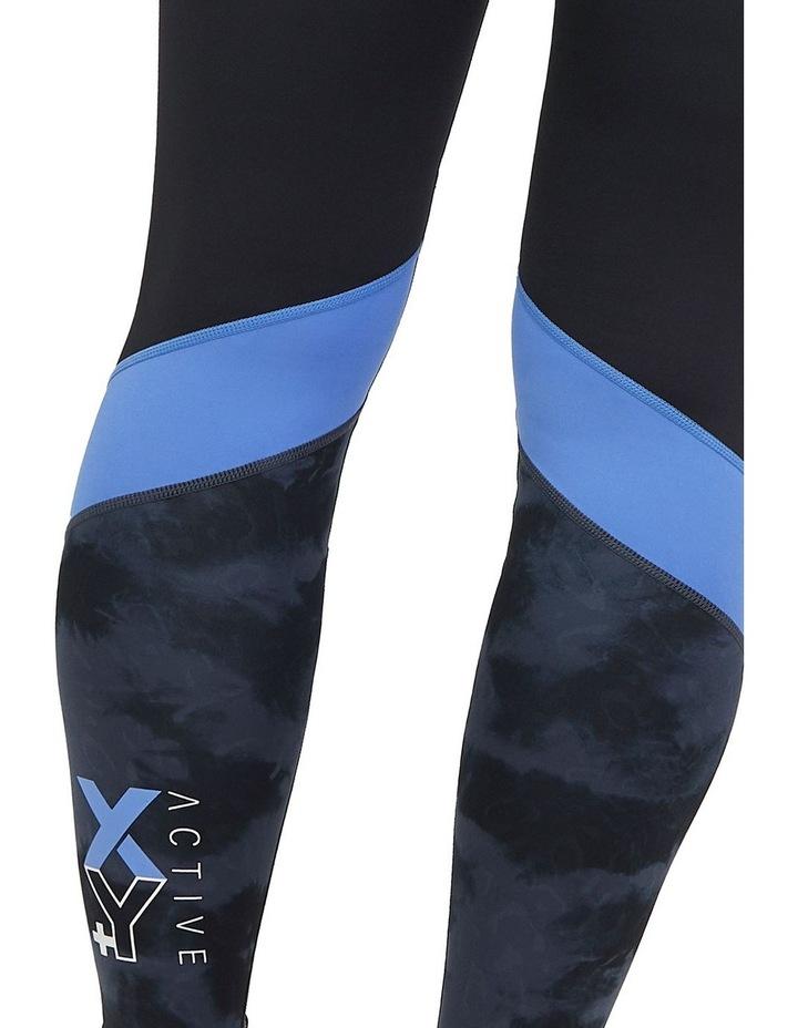 Panelled Full Length Legging Black/Animal Texture image 4