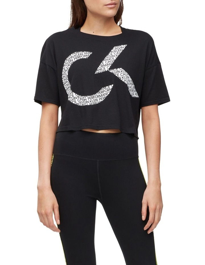 CK Performance Oversized Logo Crop Tee PF0T3745 image 1
