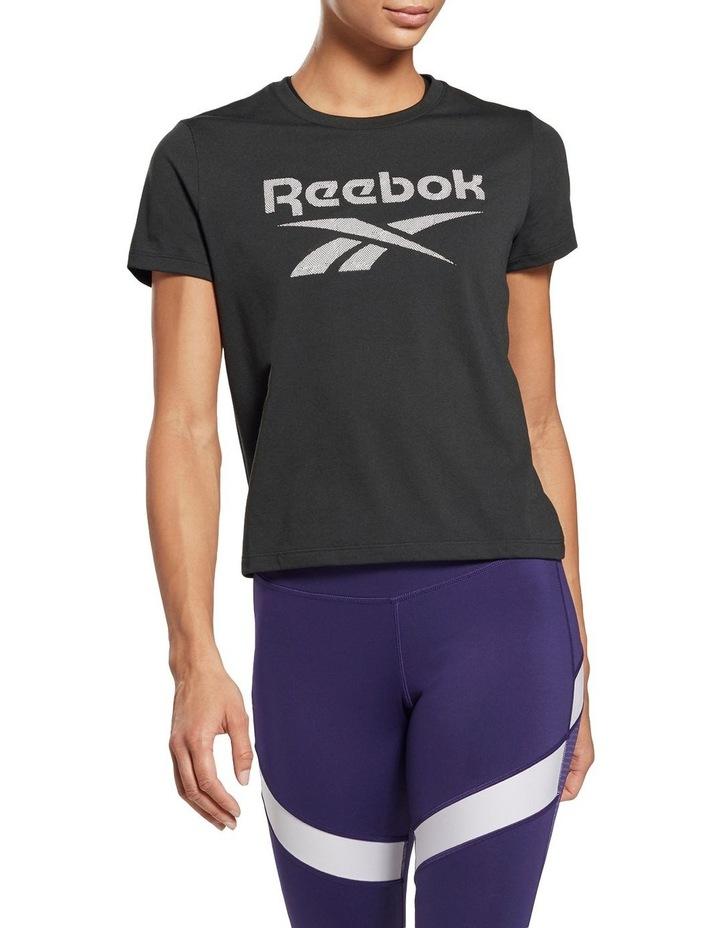 Reebok Workout Ready Supremium Slim Fit Big Logo Tee GI6851 image 1