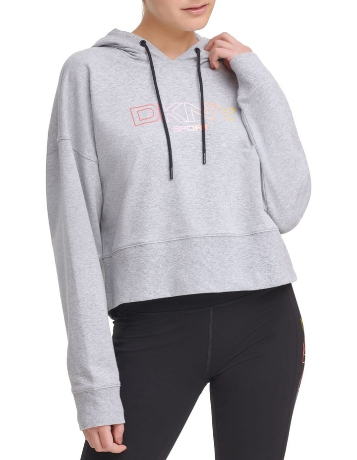 Ombre Logo Cropped Hoodie DP1T8023 image 1