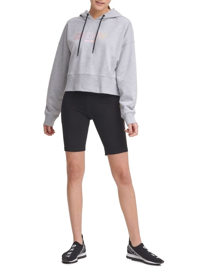 Ombre Logo Cropped Hoodie DP1T8023 image 3