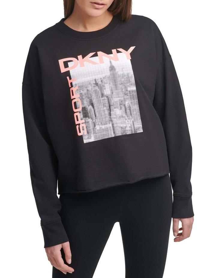 City Graffiti Logo Black Crew Neck Pullover image 1
