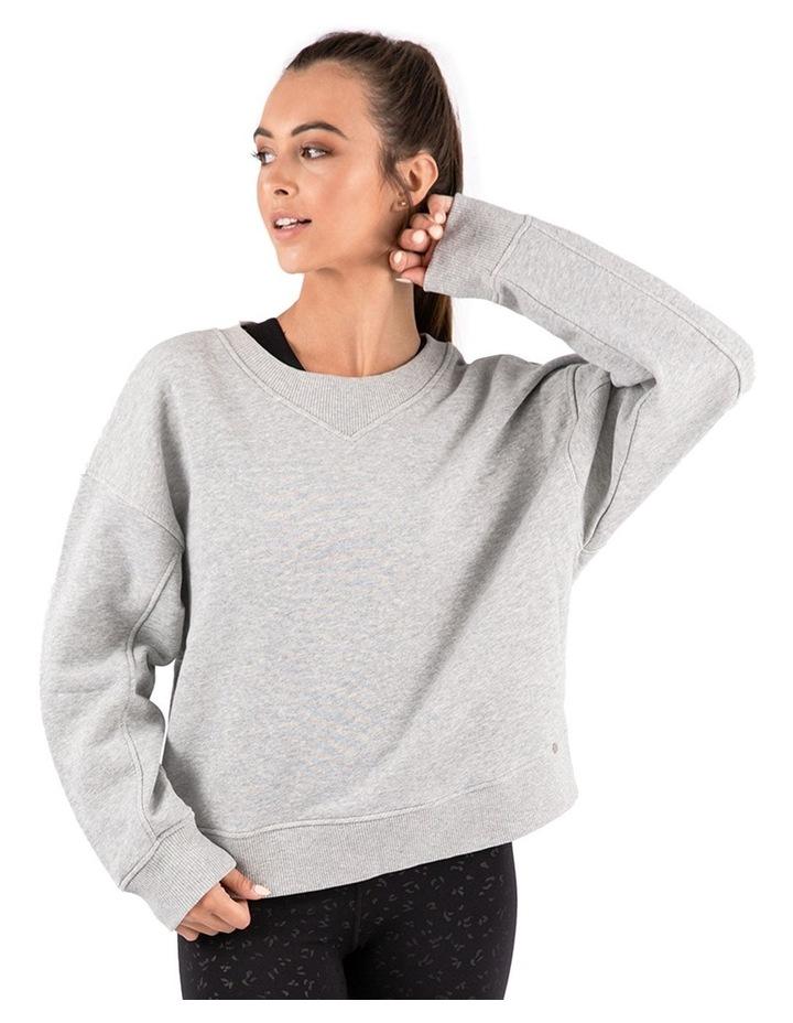 Mellow Grey Marle Oversized Sweatshirt image 1