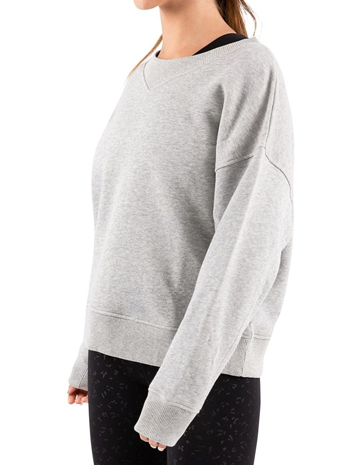 Mellow Grey Marle Oversized Sweatshirt image 2