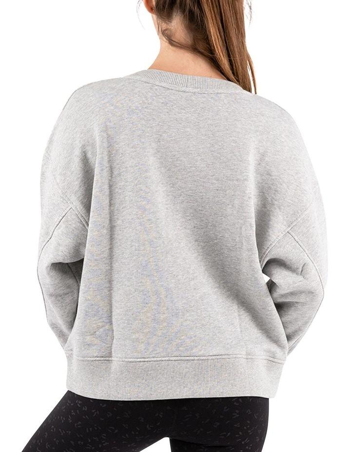 Mellow Grey Marle Oversized Sweatshirt image 3