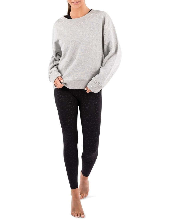 Mellow Grey Marle Oversized Sweatshirt image 4