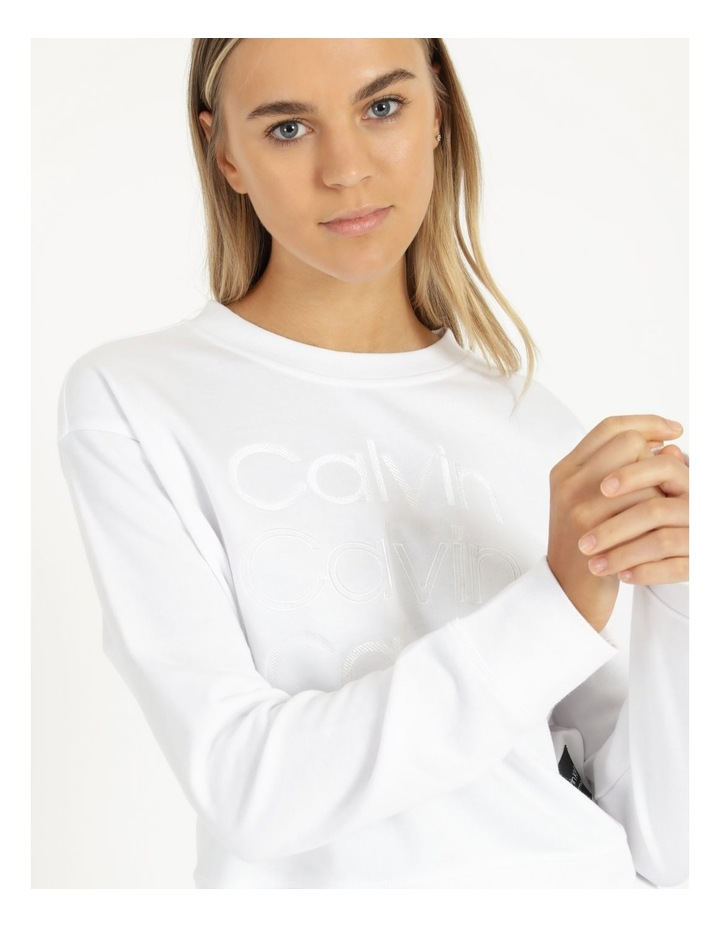 Performance Embroidered Logo Crew Neck Pullover image 5