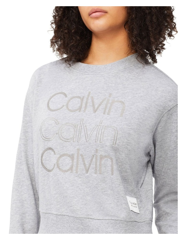 Performance Embroidered Logo Crew Neck Pullover image 4