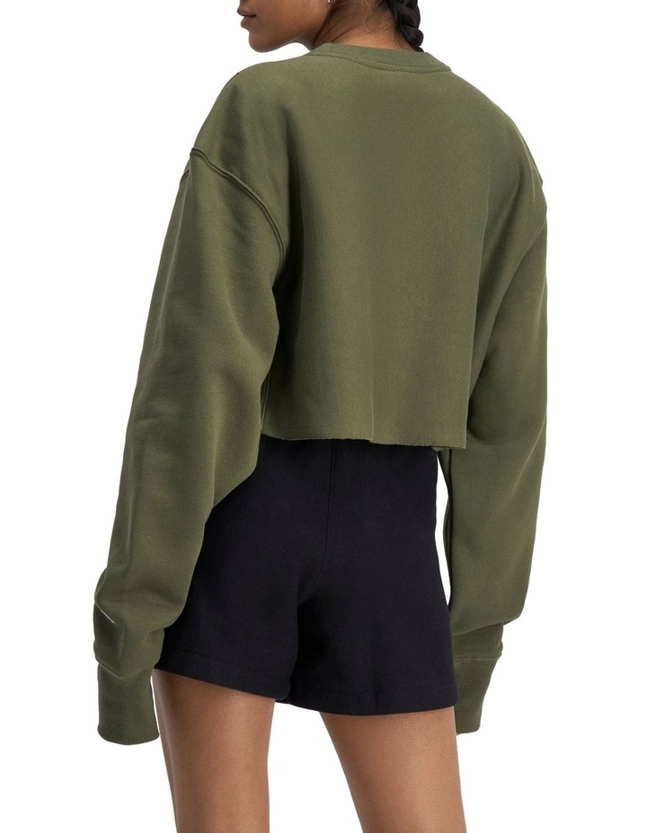 Life Reverse Weave Cropped Cut-Off Crew Sweater image 2