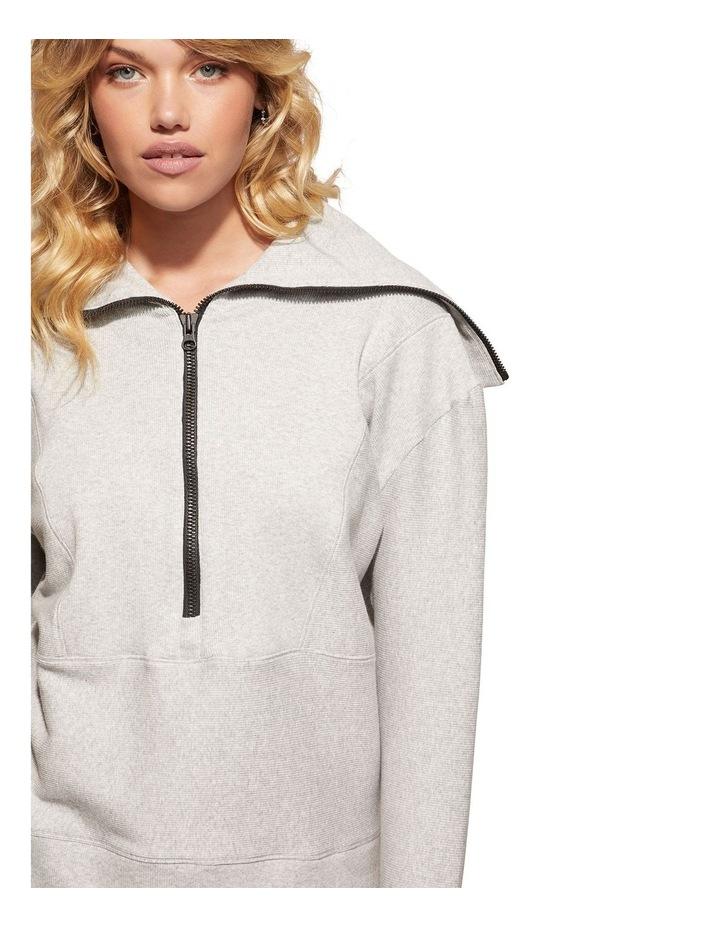 Zig-Zag Grey Sweat Top Pullover image 1