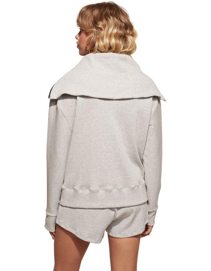 Zig-Zag Grey Sweat Top Pullover image 2