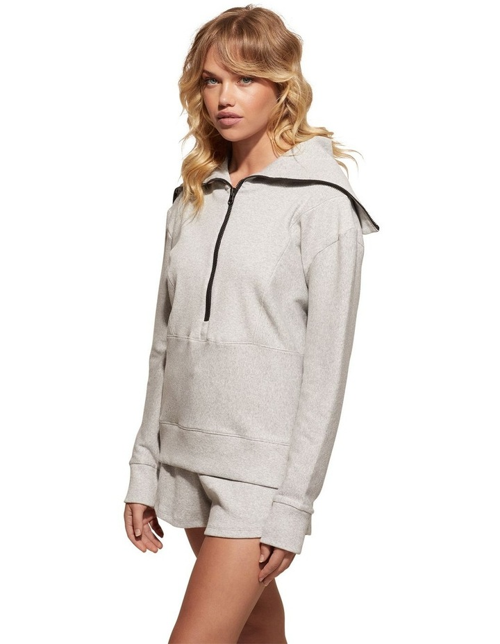 Zig-Zag Grey Sweat Top Pullover image 3