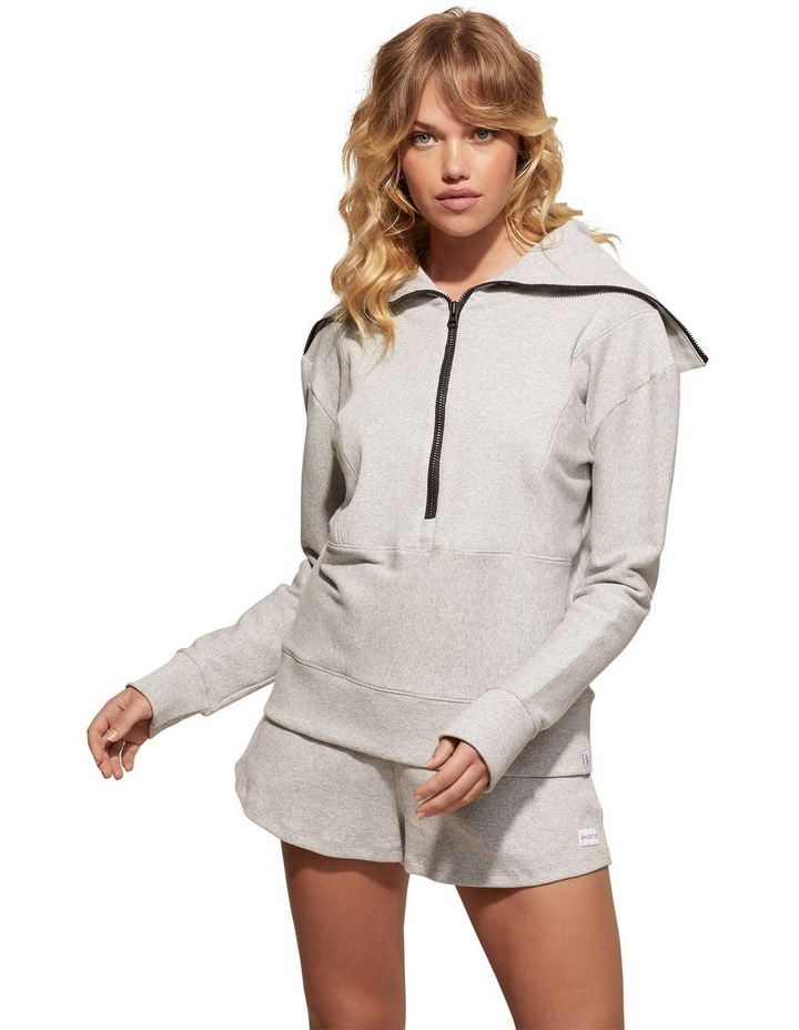 Zig-Zag Grey Sweat Top Pullover image 5