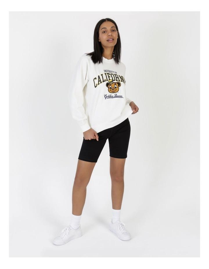 Womens Mascot Berkeley Crew Sweater Vintage White image 1