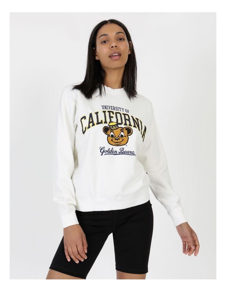 Womens Mascot Berkeley Crew Sweater Vintage White image 2